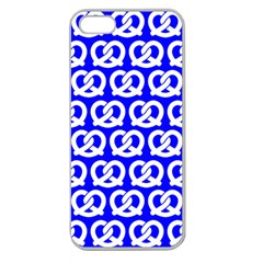 Blue Pretzel Illustrations Pattern Apple Seamless iPhone 5 Case (Clear)