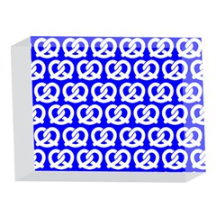 Blue Pretzel Illustrations Pattern 5 x 7  Acrylic Photo Blocks