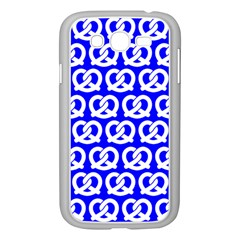 Blue Pretzel Illustrations Pattern Samsung Galaxy Grand DUOS I9082 Case (White)