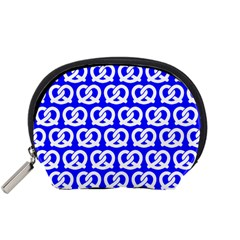 Blue Pretzel Illustrations Pattern Accessory Pouches (small)
