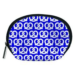 Blue Pretzel Illustrations Pattern Accessory Pouches (medium)