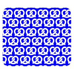 Blue Pretzel Illustrations Pattern Double Sided Flano Blanket (Small)