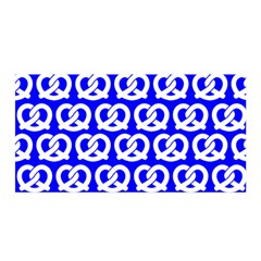 Blue Pretzel Illustrations Pattern Satin Wrap