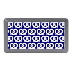 Navy Pretzel Illustrations Pattern Memory Card Reader (mini)