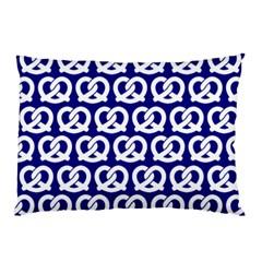 Navy Pretzel Illustrations Pattern Pillow Cases (two Sides)