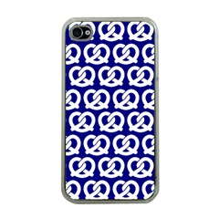 Navy Pretzel Illustrations Pattern Apple iPhone 4 Case (Clear)