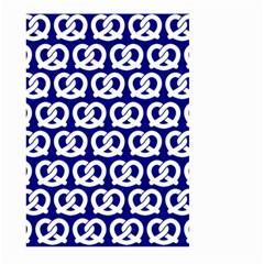 Navy Pretzel Illustrations Pattern Large Garden Flag (Two Sides)