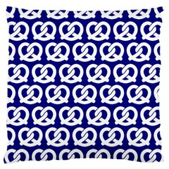 Navy Pretzel Illustrations Pattern Large Cushion Cases (Two Sides)