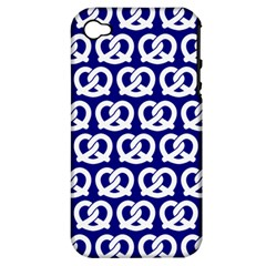 Navy Pretzel Illustrations Pattern Apple iPhone 4/4S Hardshell Case (PC+Silicone)