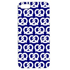 Navy Pretzel Illustrations Pattern Apple iPhone 5 Hardshell Case with Stand