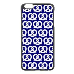 Navy Pretzel Illustrations Pattern Apple Iphone 6 Plus/6s Plus Black Enamel Case