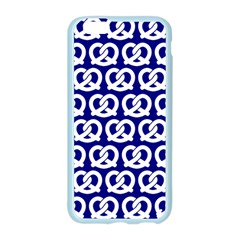 Navy Pretzel Illustrations Pattern Apple Seamless iPhone 6/6S Case (Color)