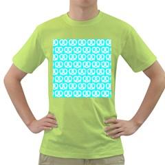 Aqua Pretzel Illustrations Pattern Green T-Shirt