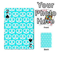 Aqua Pretzel Illustrations Pattern Playing Cards 54 Designs