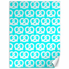 Aqua Pretzel Illustrations Pattern Canvas 36  X 48