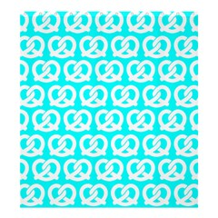 Aqua Pretzel Illustrations Pattern Shower Curtain 66  x 72  (Large)