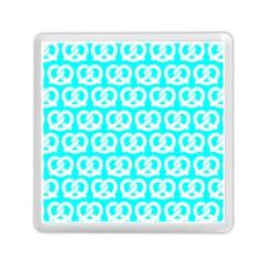 Aqua Pretzel Illustrations Pattern Memory Card Reader (Square)