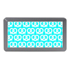 Aqua Pretzel Illustrations Pattern Memory Card Reader (mini)