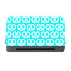 Aqua Pretzel Illustrations Pattern Memory Card Reader with CF