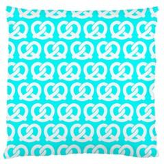 Aqua Pretzel Illustrations Pattern Large Cushion Cases (Two Sides)