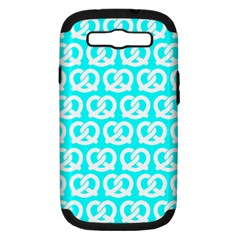Aqua Pretzel Illustrations Pattern Samsung Galaxy S III Hardshell Case (PC+Silicone)
