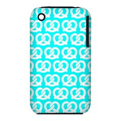 Aqua Pretzel Illustrations Pattern Apple iPhone 3G/3GS Hardshell Case (PC+Silicone)