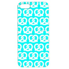 Aqua Pretzel Illustrations Pattern Apple iPhone 5 Hardshell Case with Stand
