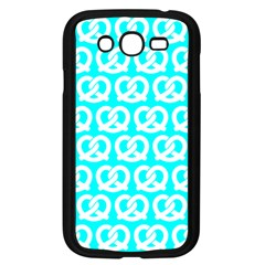 Aqua Pretzel Illustrations Pattern Samsung Galaxy Grand DUOS I9082 Case (Black)