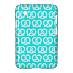 Aqua Pretzel Illustrations Pattern Samsung Galaxy Tab 2 (7 ) P3100 Hardshell Case