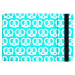 Aqua Pretzel Illustrations Pattern iPad Air 2 Flip