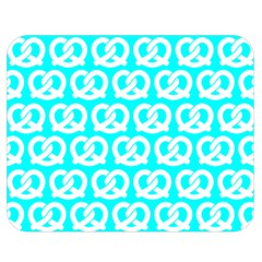 Aqua Pretzel Illustrations Pattern Double Sided Flano Blanket (medium)
