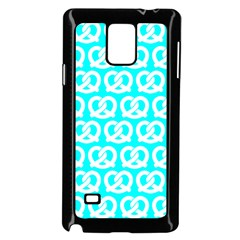 Aqua Pretzel Illustrations Pattern Samsung Galaxy Note 4 Case (Black)