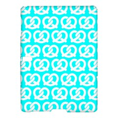 Aqua Pretzel Illustrations Pattern Samsung Galaxy Tab S (10.5 ) Hardshell Case