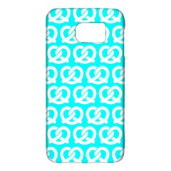 Aqua Pretzel Illustrations Pattern Galaxy S6