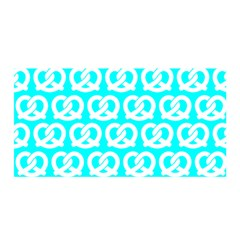 Aqua Pretzel Illustrations Pattern Satin Wrap