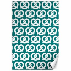 Teal Pretzel Illustrations Pattern Canvas 20  x 30