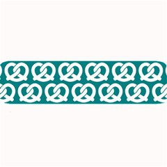 Teal Pretzel Illustrations Pattern Large Bar Mats