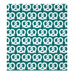 Teal Pretzel Illustrations Pattern Shower Curtain 66  X 72  (large)