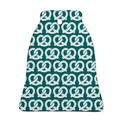 Teal Pretzel Illustrations Pattern Ornament (Bell)