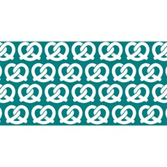 Teal Pretzel Illustrations Pattern You Are Invited 3d Greeting Card (8x4)