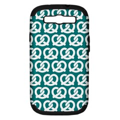 Teal Pretzel Illustrations Pattern Samsung Galaxy S III Hardshell Case (PC+Silicone)