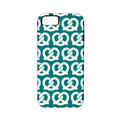 Teal Pretzel Illustrations Pattern Apple iPhone 5 Classic Hardshell Case (PC+Silicone)