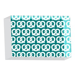 Teal Pretzel Illustrations Pattern 4 x 6  Acrylic Photo Blocks