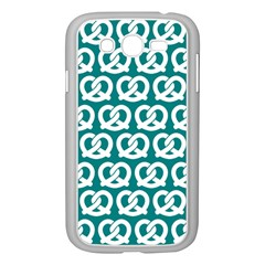 Teal Pretzel Illustrations Pattern Samsung Galaxy Grand DUOS I9082 Case (White)