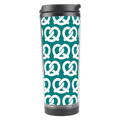 Teal Pretzel Illustrations Pattern Travel Tumblers