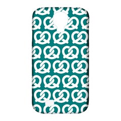 Teal Pretzel Illustrations Pattern Samsung Galaxy S4 Classic Hardshell Case (PC+Silicone)