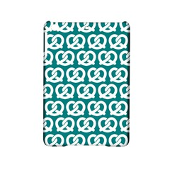 Teal Pretzel Illustrations Pattern iPad Mini 2 Hardshell Cases