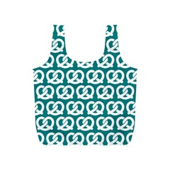 Teal Pretzel Illustrations Pattern Full Print Recycle Bags (s)