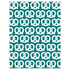Teal Pretzel Illustrations Pattern Drawstring Bag (Large)
