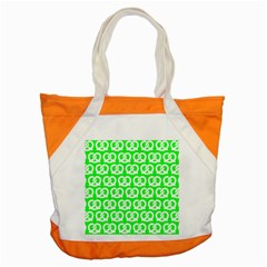 Neon Green Pretzel Illustrations Pattern Accent Tote Bag